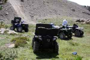 The ATVs resting while we ate lunch