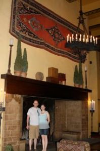Fireplace in the Ahwahnee Hotel