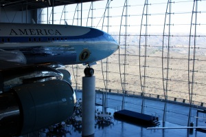 Air Force One (and the view from the Library)