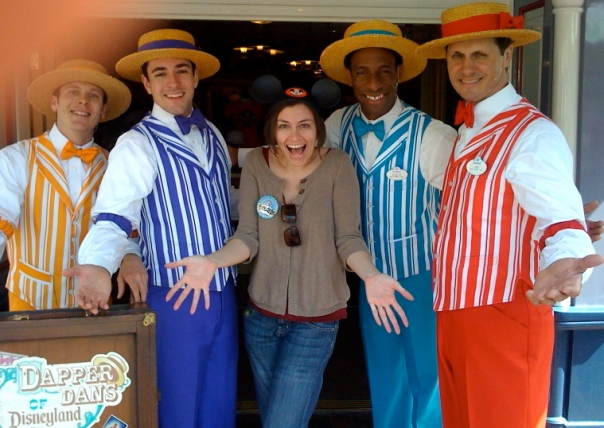 Me and the Dapper Dans (I love barbershop quartets!!!)