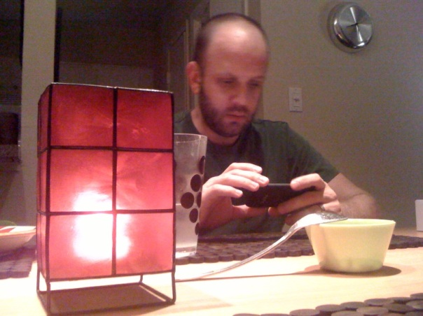 Cute nerdy husband alert! :)